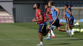 Luis enrique's squad trains again on a hot and sunny morning at the ciutat esportiva. ---- fc barcelona social media subscribe to our official channel htt...