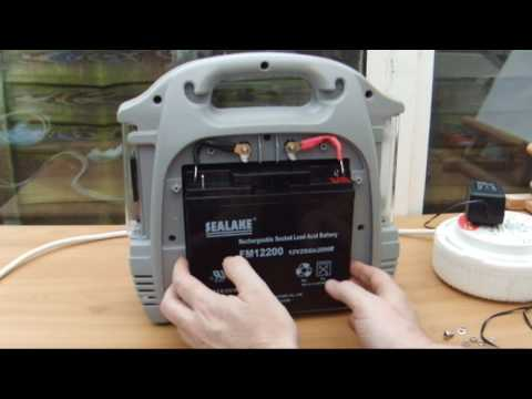 Fixing a Halfords ( Ring ) Powerpack 200 Replacing Battery