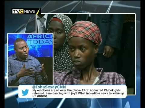 Africa Today on Chibok Girls' release with Tony Ofonyetan and Bukky Shonibare