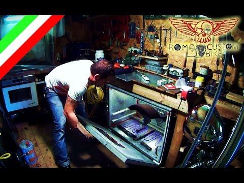 Come fare la verniciatura a polvere fai da te ep5 Roma Custom Bike  YouTube