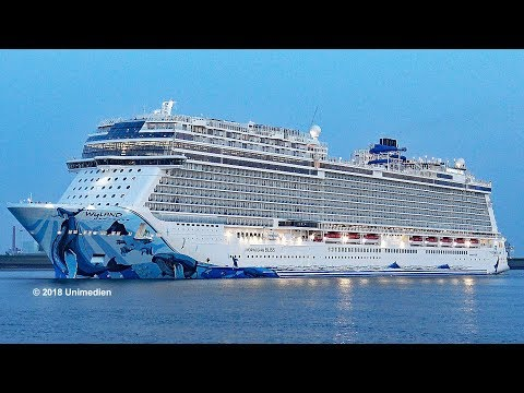 NORWEGIAN BLISS | leaving Eemshaven forever for delivery in Bremerhaven to NCL | 4K-Video