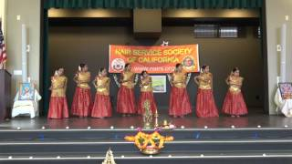 Semi-classical dance on Kannukkul Pothivaippen song by little dancers @ NSS California Onam 2016