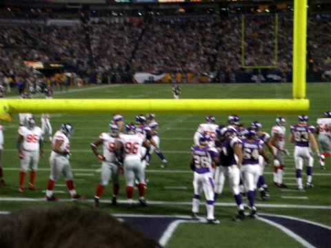 Adrian Peterson TD Jan 3 2010 MN Vikings Vs NY Giants Regular Season Last Game