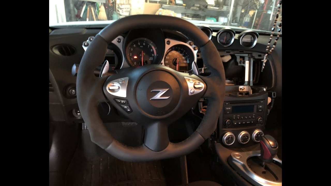 oem 370z flat top bottom steering wheel youtube oem 370z flat top bottom steering wheel