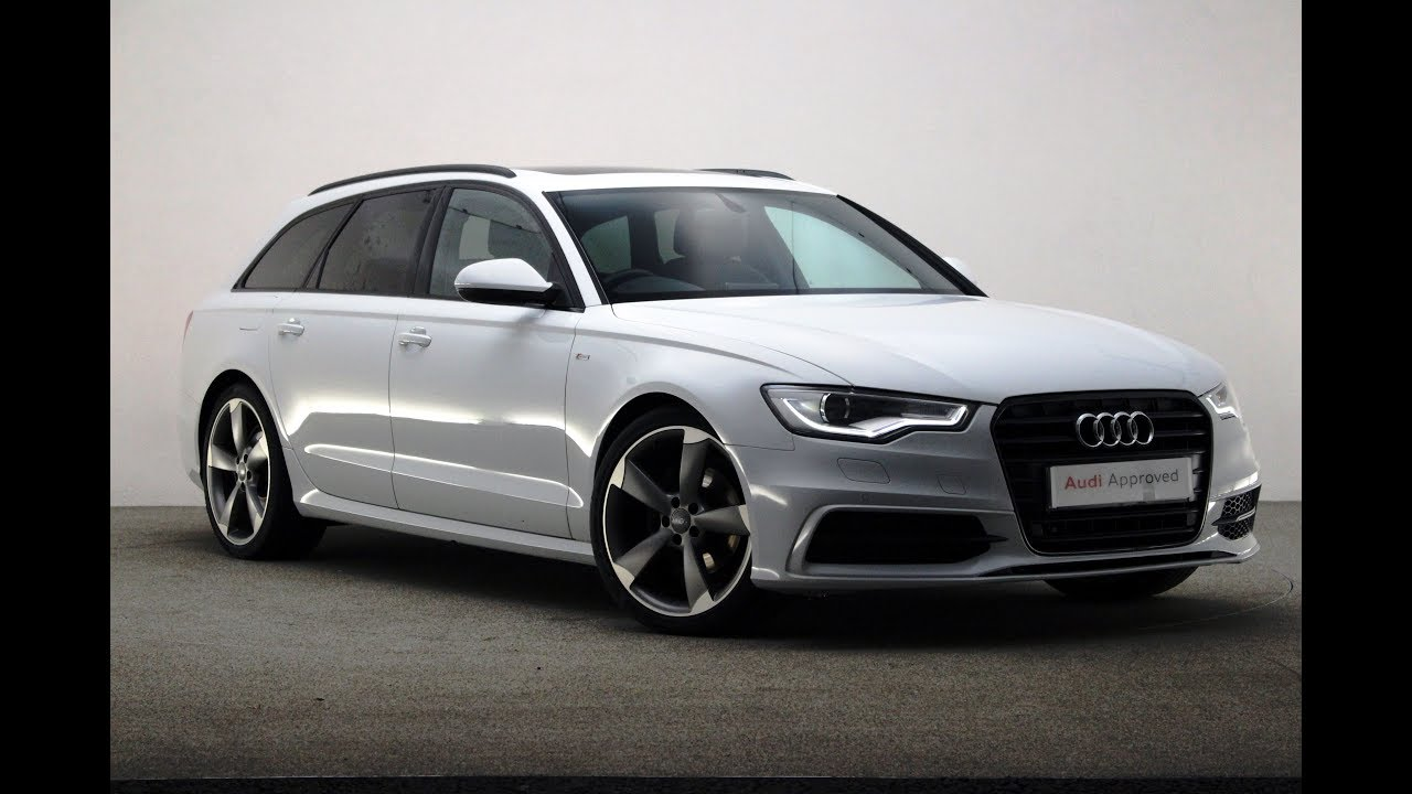 re14lvg audi a6 avant tdi ultra s line black edition white 2014 reading audi youtube. Black Bedroom Furniture Sets. Home Design Ideas