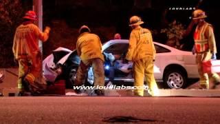 Traffic Collision with Entrapment / La Mirada   RAW FOOTAGE