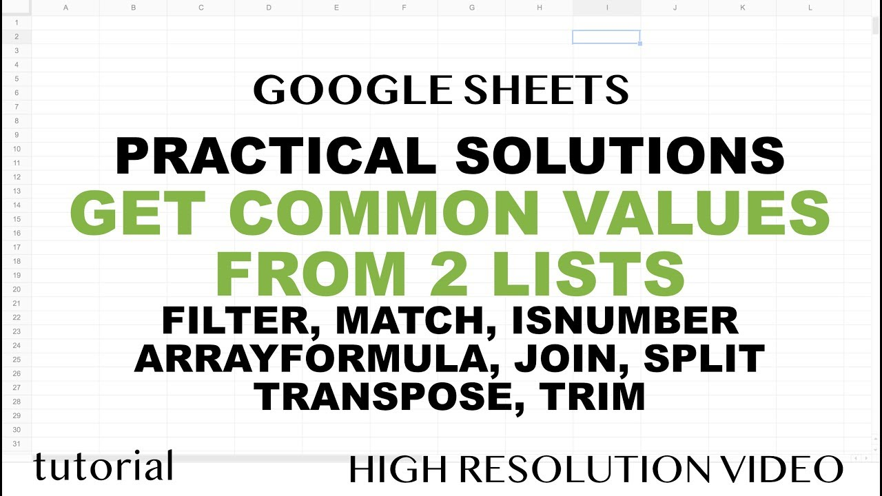Google sheets get matching values from two lists ranges tutorial google sheets get matching values from two lists ranges tutorial baditri Image collections