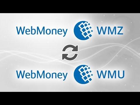 Webmoney WMZ To Webmoney WMU