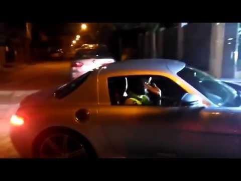 Dulquar Salman Driving His Mercedes Benz SLS AMG In Kochi