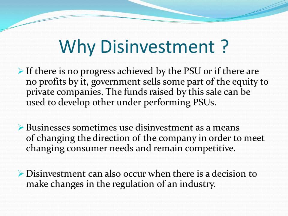 Image result for DISINVESTMENT: