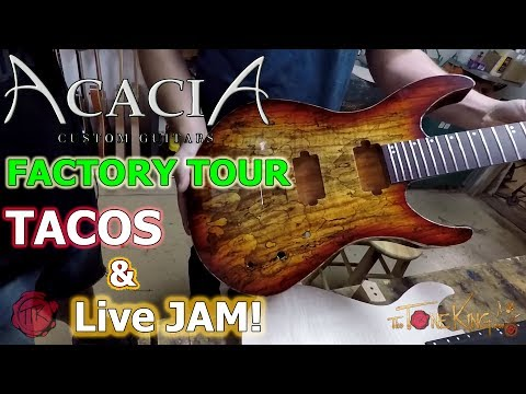Hanging w Acacia Guitars + FACTORY TOUR !!!!! San Diego 2017