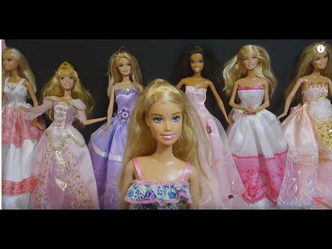 عرض أزياء فساتين باربي Barbie Fashion show prom dress