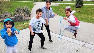 Jump Rope Challenge with HZHtube Kids Fun