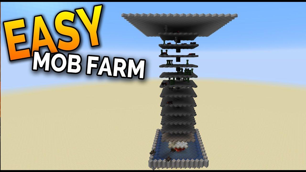 EASY MOB FARM Minecraft 100.1005+ (Tutorial) - Minecraft 100.1006 Compatible