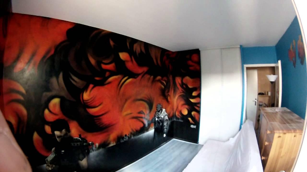 Graffiti Chambre Call of Duty Réalisé par Croug (Psyko