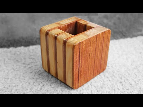 DIY Wooden Box Easy - Wooden Pencil Holder Plans