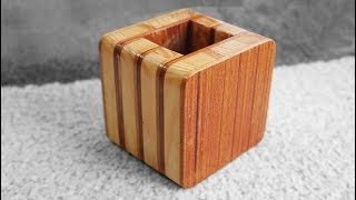 DIY Wooden Box Easy - Wooden Pencil Holder Plans