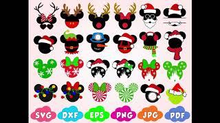 Christmas 2019 Svg, Mickey Christmas svg, Christmas Mickey svg, dxf