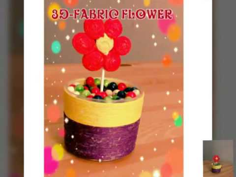 3d fabric flower and bottle cap pot diy youtube for How to make bottle cap flowers