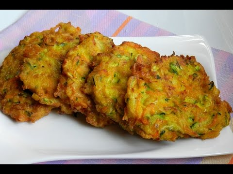 How To Make Zucchini Carrot Fritters   Appetizer Easy Recipe Video