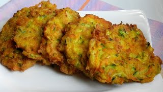 How To Make Zucchini Carrot Fritters | Appetizer Easy Recipe Video