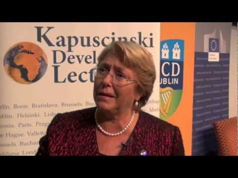 Interview: Michelle Bachelet at Kapuscinski Development Lecture in Dublin on Women in Development