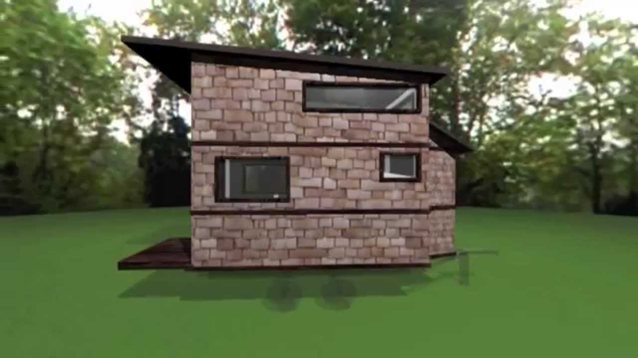 djs 8x12 tiny house design youtube - 8x12 Tiny House On Wheels Plans