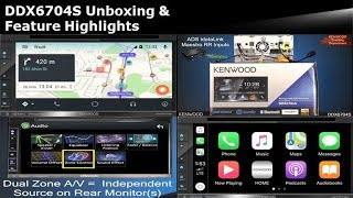 KENWOOD DDX6704S 2017-2018 Multimedia Receiver Unboxing & Feature Highlights