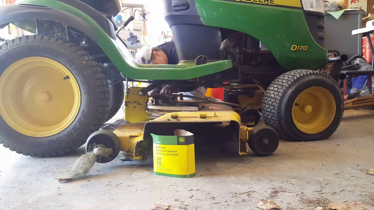 John Deere D170 Belt Routing Install Youtube. John Deere D170 Belt Routing Install. John Deere. C John Deere 54 Mower Belt Diagram At Scoala.co