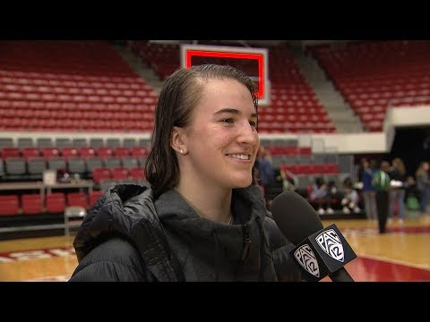 Oregon women\'s basketball\'s Sabrina Ionescu discusses joining 1,000-point club and meeting John...