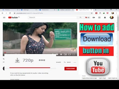 How to add download button in YouTube ?    download videos  without idm   in urdu/hindi