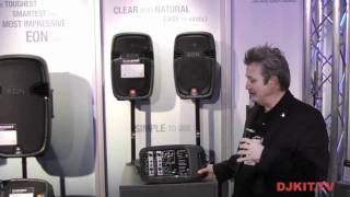 JBL EON 210P Portable PA System @ Namm 2012 with DJkit.tv