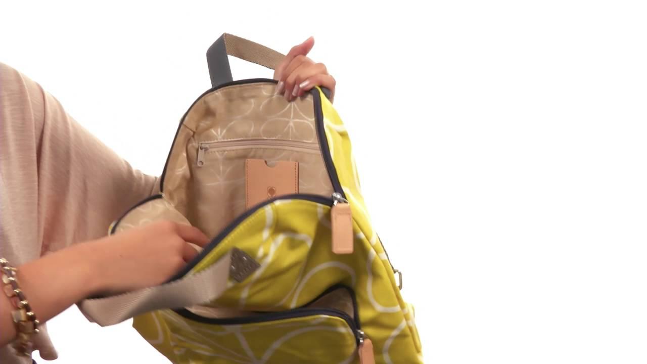 3f3bf9fd1986 Orla Kiely Giant Linear Stem Backpack Tote SKU 8712501 - YouTube