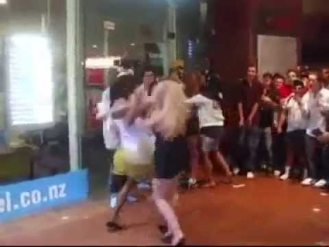 Interracial chick fight