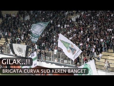 Keren Gilak! Aksi Brigata Curva Sud (BCS) di Laga PSS Sleman Vs Borneo FC Piala Presiden 2019