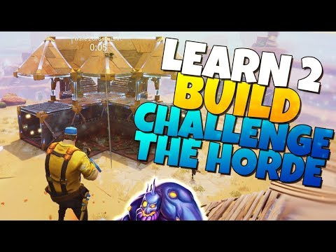 BEST Challenge The Horde DEFENSE BUILD! | Learn 2 Build | Fortnite Save The World