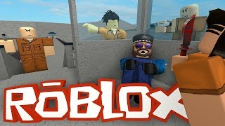 Roblox Kino gaming with Waw and Roo in prison life