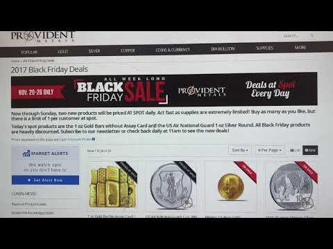 Silver/Gold at spot for 1 week Black Friday Deal alert