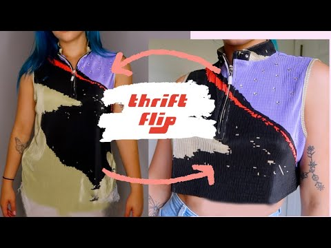 [VIDEO] - THRIFT FLIP // DIY ugly to cute clothes 1
