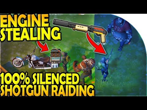 100% SILENCED SHOTGUN DOUBLE RAID + ENGINE STEALING - Last Day On Earth Survival Update 1.9