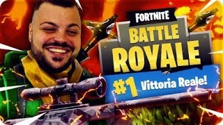 NEW REAL VITTORY IN ONLY ON FORTNITE TRA SNIPER AND LANCIAMISSILI ! [Fortnite Battle Royale]