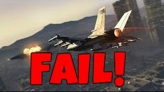 Grand Theft Auto 5  First Time Getting a Military Jet FAIL!