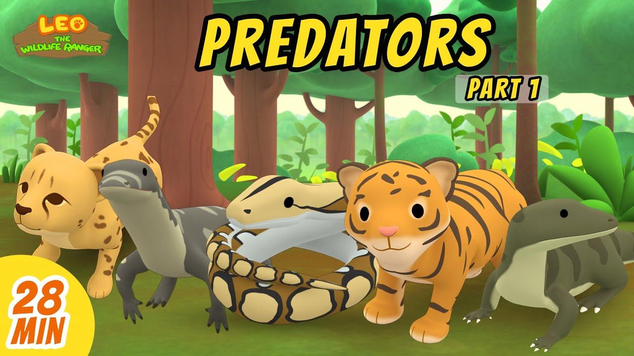 Predators Minisode Compilation (Part 1/2) - Leo the Wildlife Ranger   Animation   For Kids