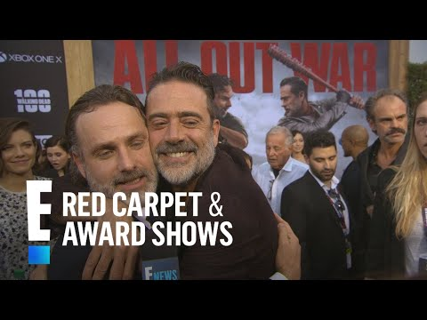 How Andrew Lincoln Broke Jeffrey Dean Morgan's Nose OnSet  E! Live from the Red Carpet