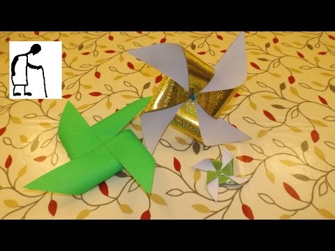 Let's make a Paper Propeller - Windmill - PinWheel