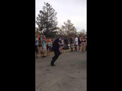 Dancing paramedic goes shuffling