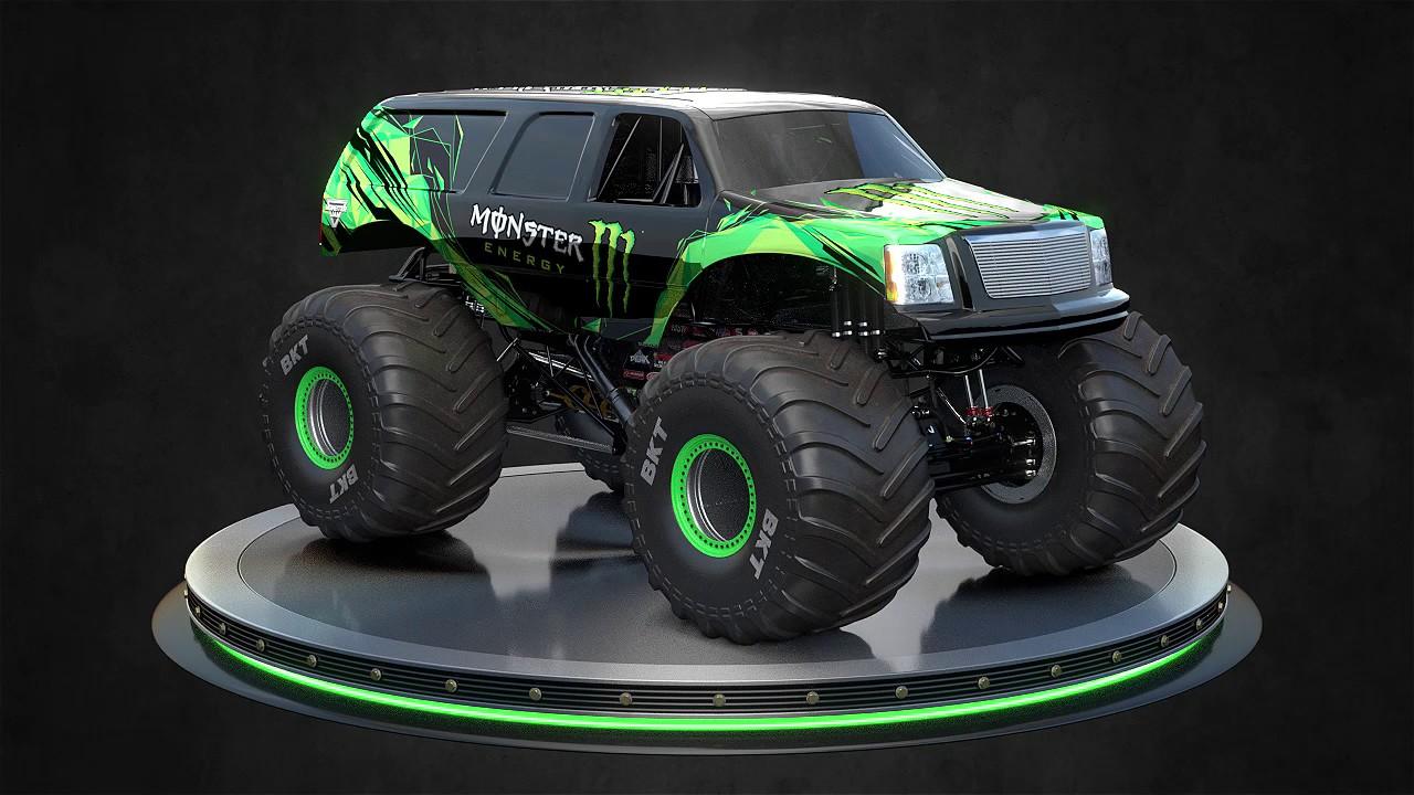 Monster Energy Monster Jam Truck Suv And Pickup Body Style