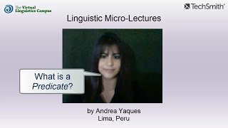Linguistic Micro-Lectures (Spanish): Predications and Predicates
