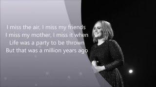 Adele - Million Years Ago (Lyrics)