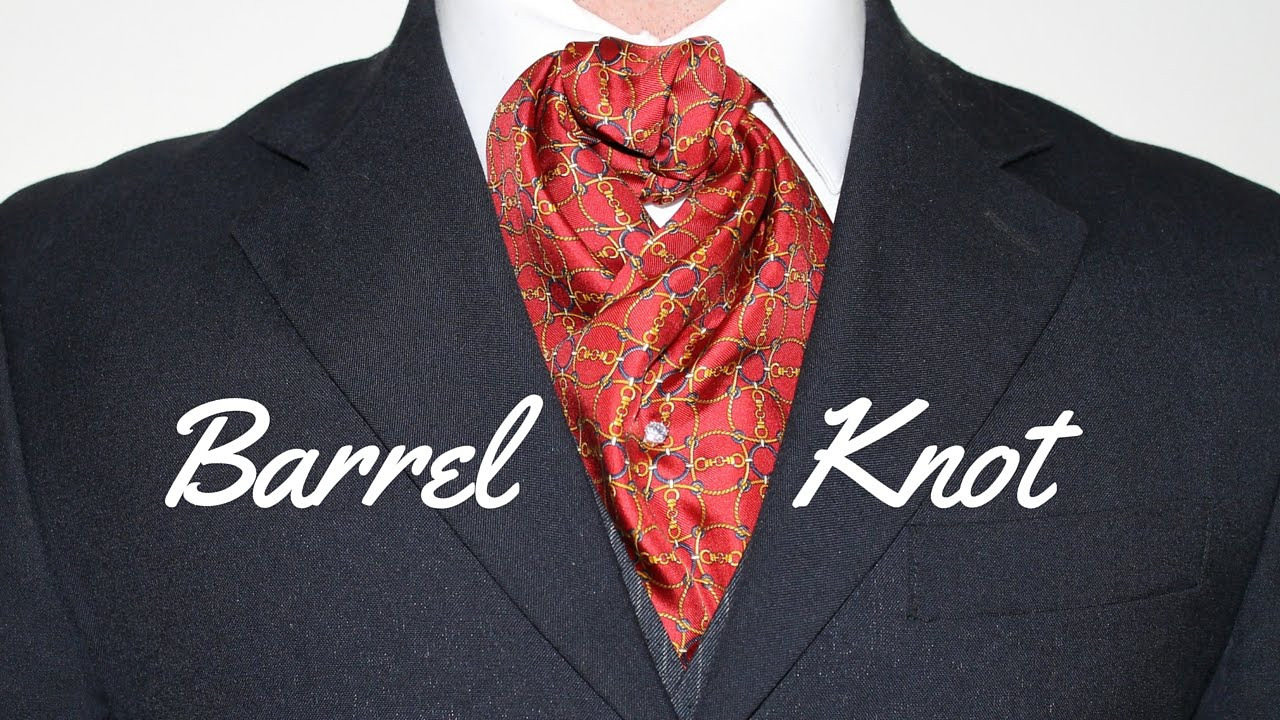 How to tie an ascot or cravat barrel knot youtube ccuart Image collections